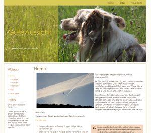 Startseite Webdesigner Beispiel